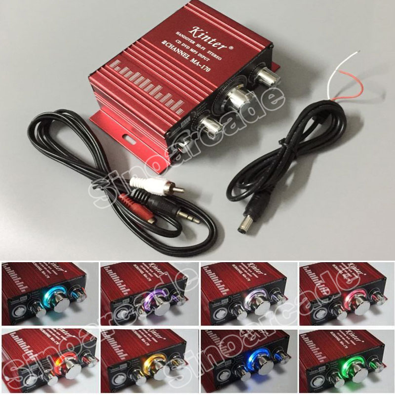 Arcade Game MA-170 12V 2 Channels LED Mini HIFI Stereo Amplifier For Arcade JAMMA MAME Machine Cabinets