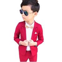 2018 Fashion New 2PCS Kids Wedding Blazers Children Brand Boys Formal Tuxedos School Blazer Kids Spring Clothings Suits S83901A