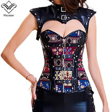 1fabbc536e9 Wechery Women Steampunk Corset Sexy Gothic Corselet Lace Up Bustiers  Vintage Gorset Hollow out Sleeveless Sexy Retro Gorset Tops