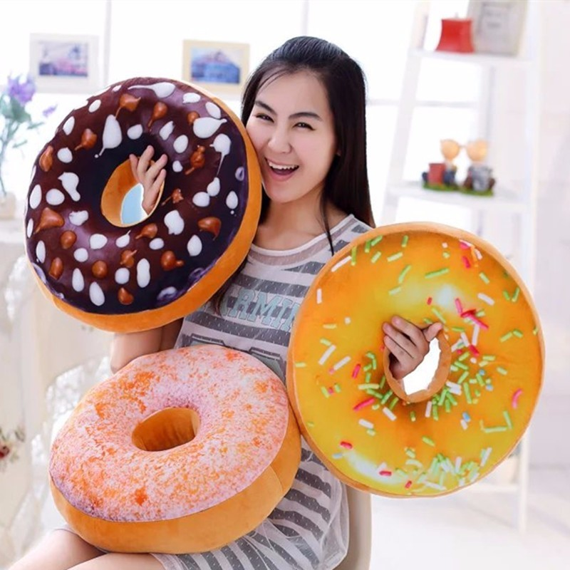 Plush Donut Pillow | Moon Discount