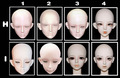 Doll DZ 1/3 bjd kd bjd sd 70cm doll head resin 1/3 BJD doll head DIY
