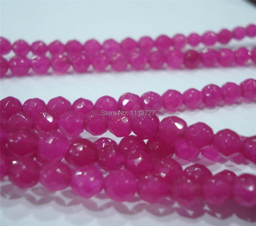 Natural Stone DIY Beautiful 4MM 6MM Faceted Brazilian Red Chalcedony Loose Beads Jewelry Natural Stone 15 GE766 Wholesale Price