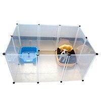 Домик-кроватка для домашних животных пластиковый прозрачный забор для собак DIY Мультифункциональный Конура для собак кошек практичный дом...