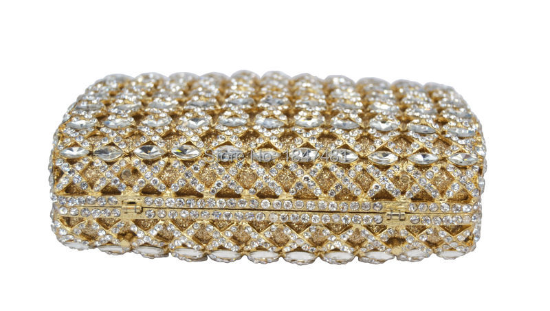 Luxury Diamond Gold Evening Clutch Bag Sac Soiree Party Purse Pochette  Candy Rhinestone Red Ladies Wedding Day Clutches SC294-in Top-Handle Bags  from ... b99f8b435e08