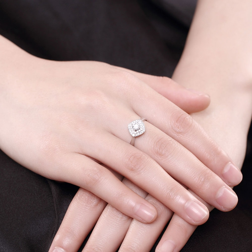 Wedding Brand Forever Love Ring For Girls Sparkling Rings Alliance ...