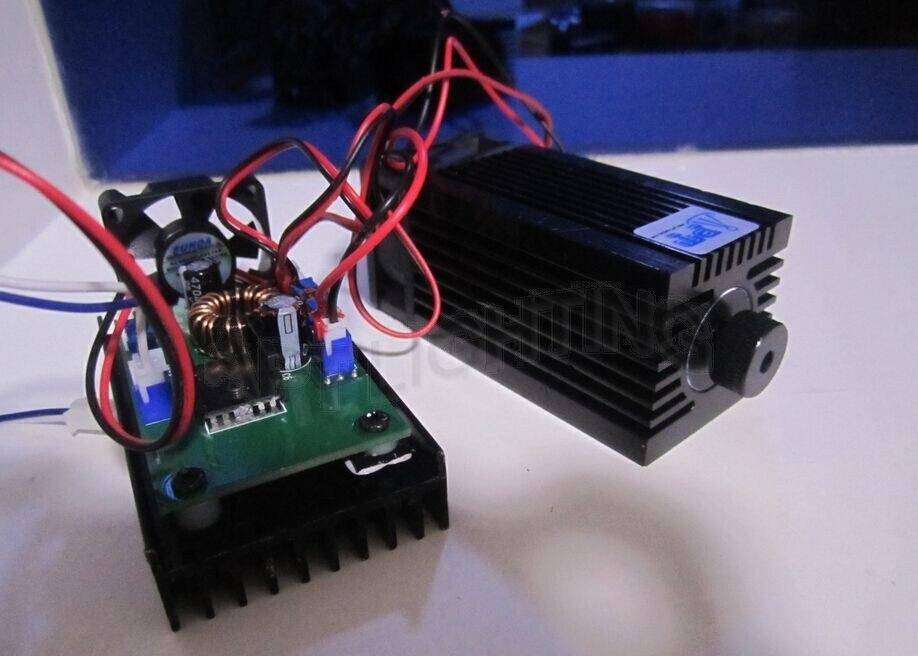DIY Вт 5,5 Вт 450нм синий лазерный модуль, лазерная гравировка деталей машин, лазерная резка ttl Модуль 5500 МВт лазерная трубка