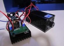 DIY 5.5 Вт 450NM высокой мощности фокусировки синий лазерный модуль лазерная гравировка и резка TTL модуль 5500 МВт лазерной трубки + googles выгравировать