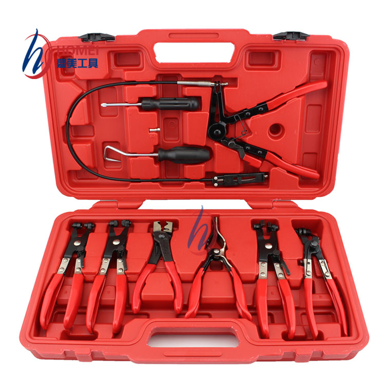 9pcs Auto Car Repairs Hand Tools Automobiles Flexible Hose Clamp Tube Clamps Pliers Hose Clamps Vehicle Car Repair Tools Pliers quality 9 in 1 flexible hose clamp plier kit pliers tool set with case auto vehicle tools cable wire long reach car repair tools
