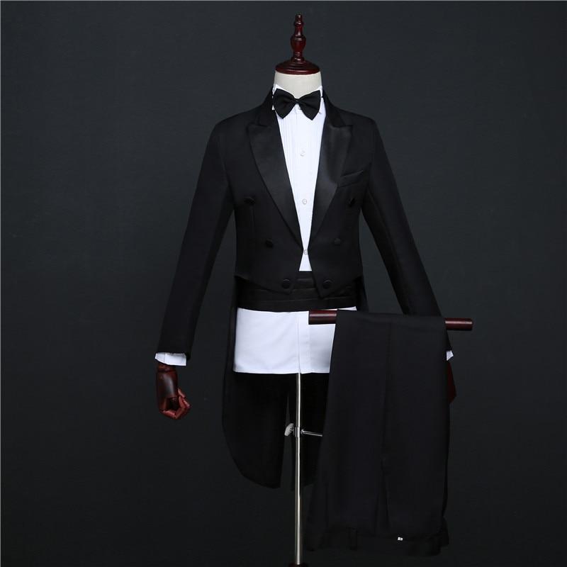 Smoking Magie Hochzeit Abschlussball formelle Anzüge Bräutigam - Herrenbekleidung - Foto 6