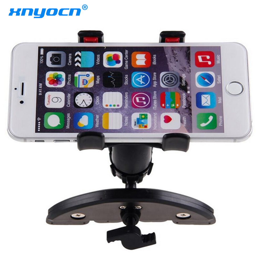 Universal CD Slot Car Cell Phone Holder Mount para iPhone SE 7 6S Plus para Samsung Galaxy S6 S7 teléfono móvil GPS soporte Soportes