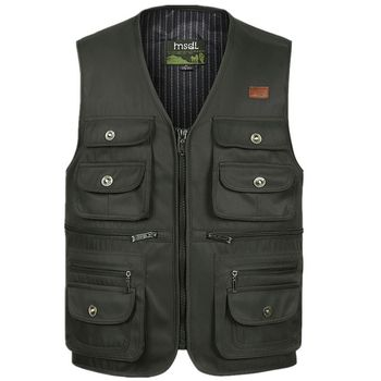 Men Large Size S-4XL Motorcycle Casual Vest Male Multi-Pocket Tactical Fashion Waistcoats High Quality Masculino Overalls vest b new spring men s two sided vest multi pocket multi pocket vest men casual fishing photography vest plus size s 4xl