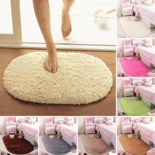 40*60cm Pure Color Bedroom Oval Carpet Floor Mats Floor Door Mat 40*60CM Plush Rug Mat Magic Slip-Resistant Pad