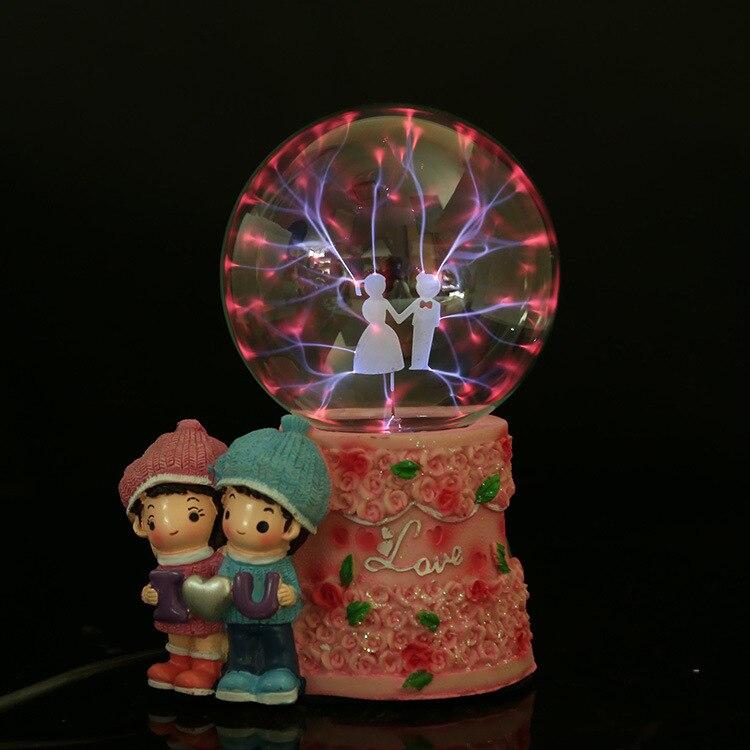 Créatif Illuminant franklinisme magique globe cristal figurines mariage décoration cadeaux idée décoration maison accessoires moderne