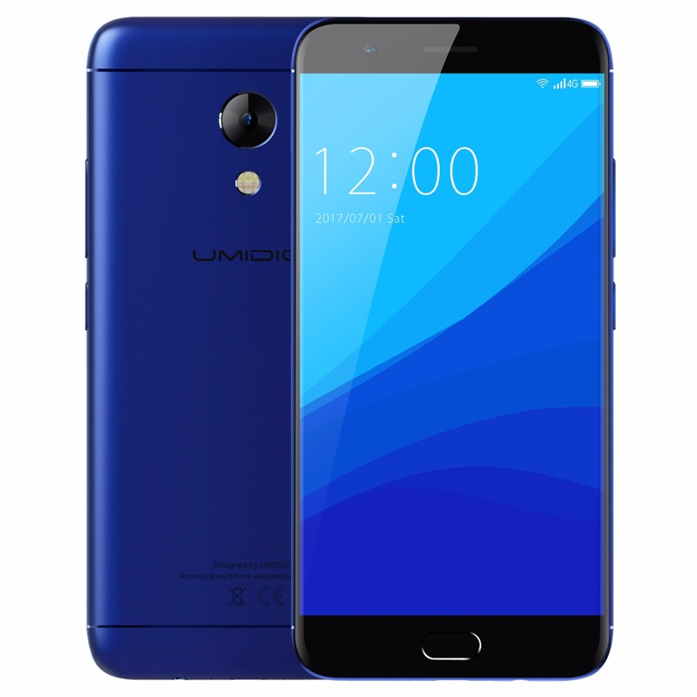 """Original UMIDIGI C2 Smartphone 4GB+64GB Android 7.0 Front Touch ID 5.0\"""" FHD MTK6750T Octa-core 13MP 4000mah Metal Mobile Phone"""