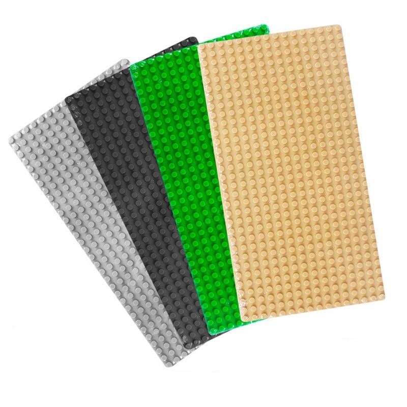 Building Blocks Base Plate for Small Bricks Base Plates 32*16 Dots DIY Toys Base Compatible with Legoe All Brands Blocks