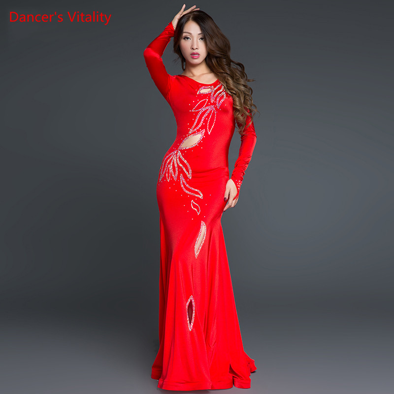 Quality belly dance costume dress belly dance pratice clothing indian dress Sexy Dancer Practice Costume Dress