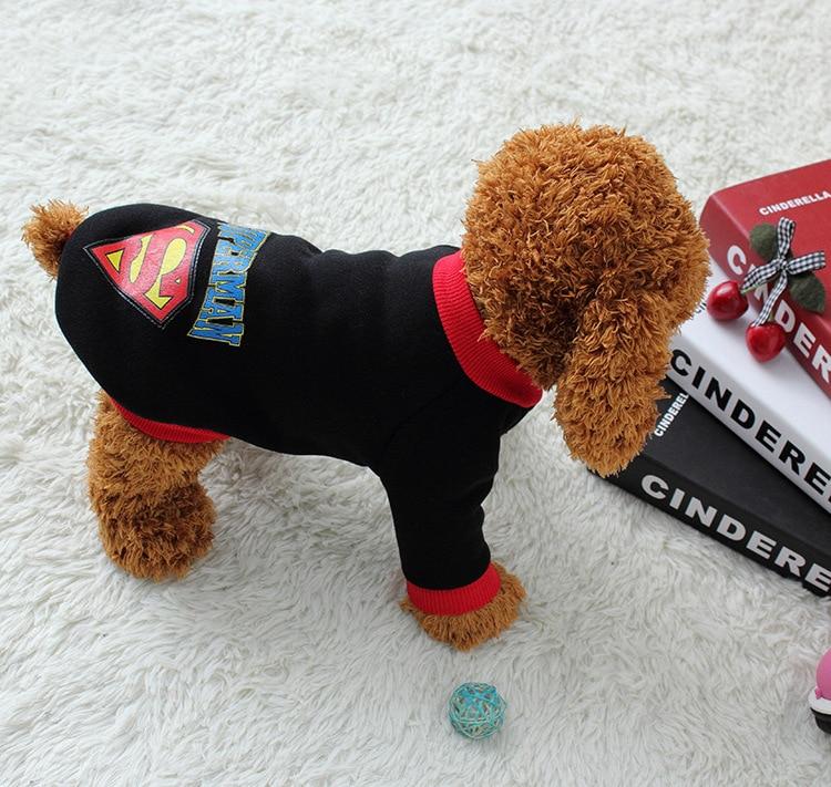 Pet Dog Puppy Cotton Superman Pakaian, Halloween Pakaian Kostum - Produk hewan peliharaan - Foto 4