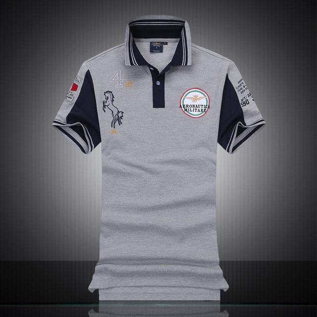 Camisa Dos Homens 100% Algodão Camisas Masculinas Polo Militare Polos Masculinas  Camisas Juventus Para Hombre f996a68c189b6