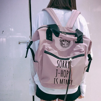 2018 New Canvas Women Printing Backpack BTS Bangtan Boys Girls Mochila Feminina School Bags Fashion Laptop Bags Bolsas Feminina