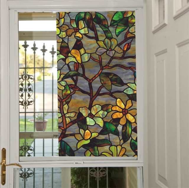 New multicolor window film etched glass window privacy film window sticker for home decoration 92cm x