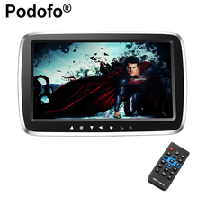Podofo 9″ Ultra-thin Car Headrest Monitor DVD Display Screen MP5 KTV Music Player Support 1080PHD Movies with Touch Buttons