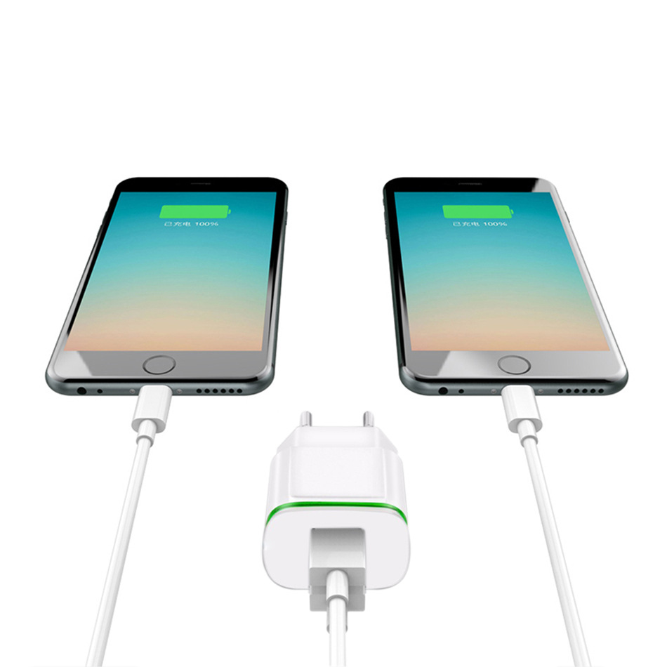 5V 2.1A Smart Travel Dual 2 USB Charger Adapter Wall Portable EU <font><b>Plug</b></font> Mobile Phone Charger for ALL <font><b>smartphone</b></font>