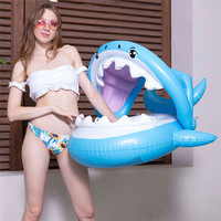 Inflatable Swimming Ring Summer Kids Shark Children Inflatable Swimming Pool Float Bathing Pool Accessories Toy Party Adults