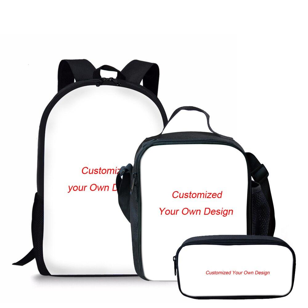 812ef392d59b THIKIN 3 шт./компл. детские школьные сумки для мальчиков индивидуальные  плечо рюкзак студенты