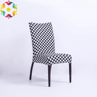Hot Selling Spandex Stretch Multicolor Pattern Chair Cover Slipcover Case Anti dirty Elastic Hotel Wedding Dining Chair Covers