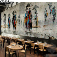 Beibehang Custom Wallpapers 3D Photo Murals Retro Cement Abstract Oil Paintings Restaurant Hotels Mural Background 3d