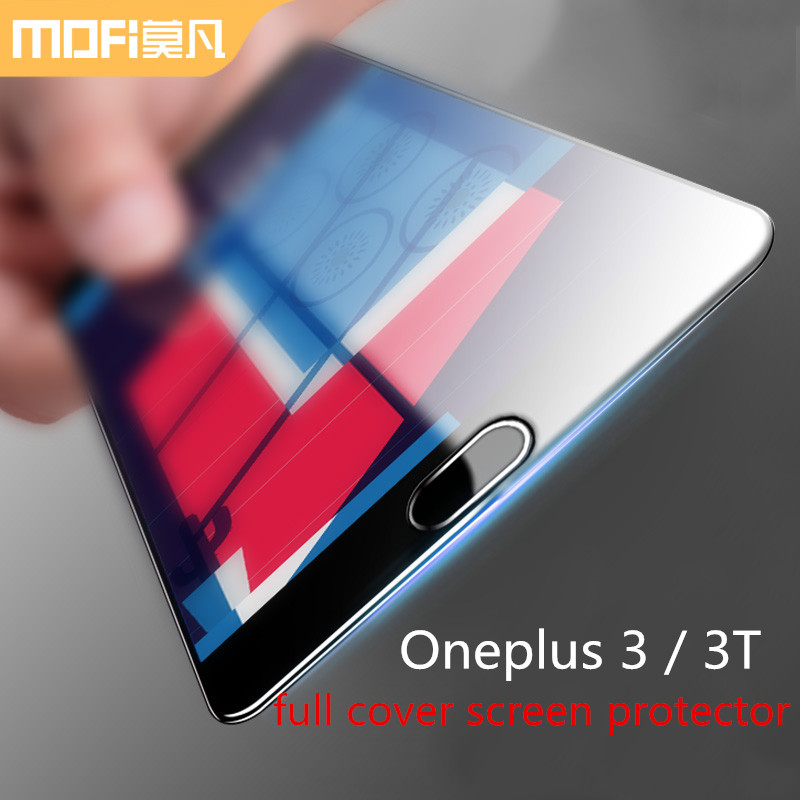 Oneplus 3T Tempered Glass MOFI 2.5D full cover Screen protector for oneplus 3 t Full screen clear slim Tempered film 5.5 inch