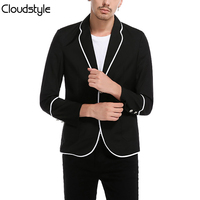 2018 Blazer Masculino Slim Fit Two Button Jacket Men Cloudstyle Spring Autumn Solid Business Overcoat Jacket