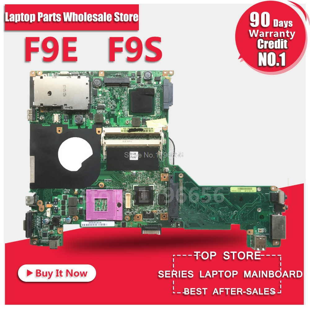 F9S For ASUS F9S F9E laptop motherboard with graphics card f9s rev2.1 original new motherboard 100% tested наклейки для ногтей f9s 12 56754