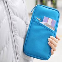 Korean Waterproof Passport Cover Travel Wallet Documents Credit Card Holders Organizer Cover To Passport Cardholder Purse