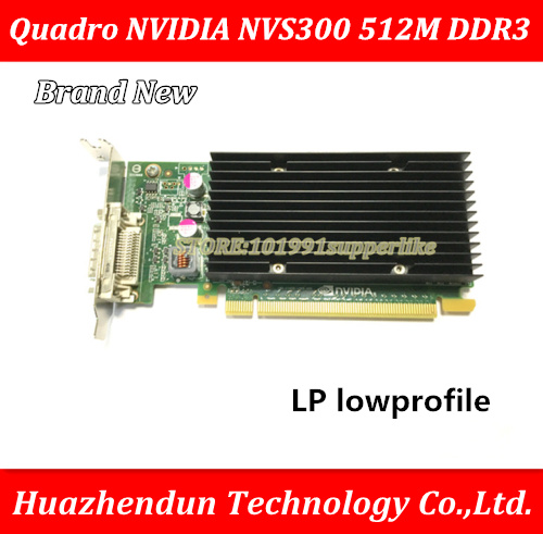 цена на DEBROGLIE 1PCS Brand New  LP lowprofile  Quadro NVIDIA NVS300 512M DDR3 PCIE Graphics Video Card with DMS59 Cable