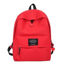 Leather Patch Girls School Bags Nylon Travel Backpack Casual Daypack