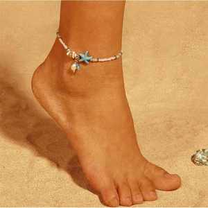 Ankle-Bracelet Women Beads Handmade Jewelry Multi-Layer New-Shell for
