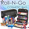 Travel Organizer Toiletries Makeup Bag Toiletries Pockets Compartment Roll N Go Bag large capacity Storage package Jewelry