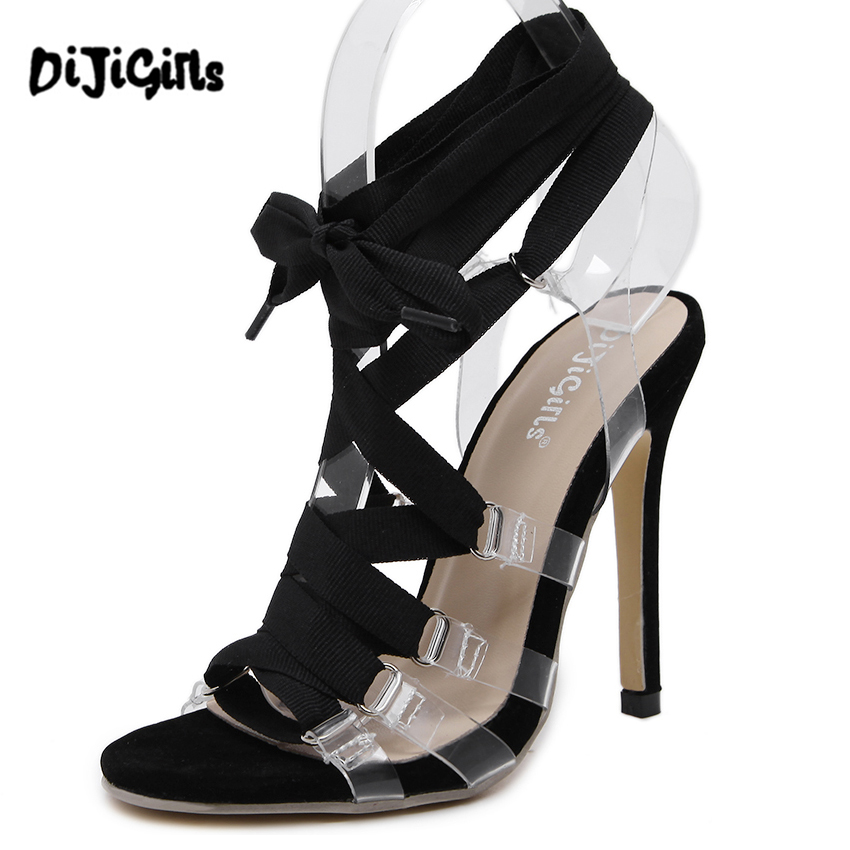 ᗚ2017 Women high heels • transparent transparent clear ...