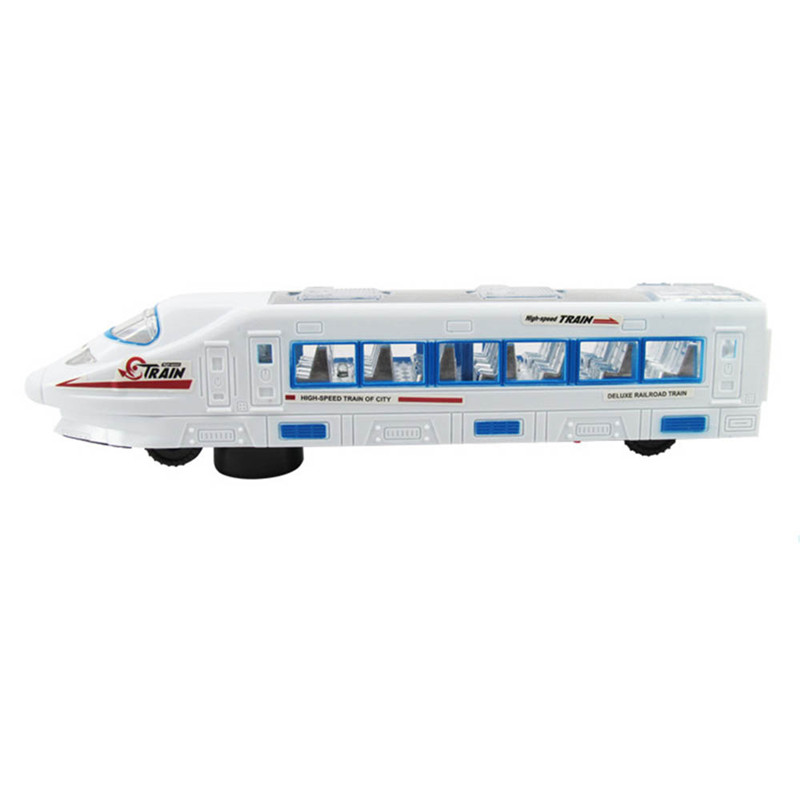 High-speed Train Toy Universal Electric Car Music Flash Simulation High-speed Train Baby Kid Model Toys