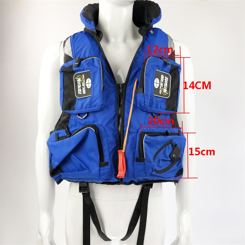 Image 5 - Fishing Vest Adjustable Portable Mutil Pocket Outdoor Sport Life Safety Jacket Cycling Swimming Sail Fishing Clothes-in Fishing Vests from Sports & Entertainment
