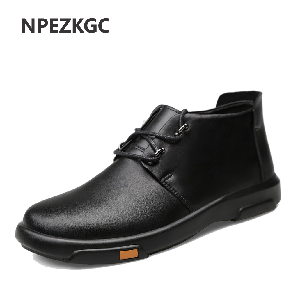 Men Boots Winter With Fur Warm Snow Boots Men Shoes Fashion Male Rubber Winter Working Combat