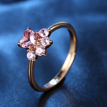 Cut Dog Rose Gold Resizable Rings For Women