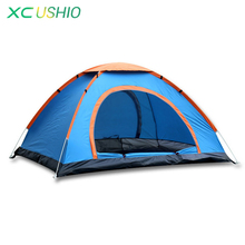 Outdoor Automatic Tent 2 People Single Layer 1.4KG Waterproof Camping Tent for Hiking Fishing Trekking Beach UV Protection Tent