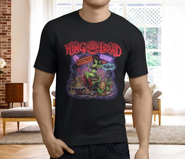 ba9341d715344b New Popular King Gizzard And The Lizard Wizard Men S Black T Shirt Size S  3XL