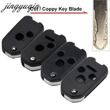 jingyuqin Cutting Key Blade Flip Remote Car Shell for Honda Civic CRV Jazz HRV 2/3/4 Button Foliding Cut Blank Fob Case