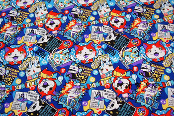 50*140cm Yo-Kai Watch Seal Jibanyan Whisper Periphery Yokai cotton Sewing Fabric girl baby Diy Handmade Craft Bedding Home 2