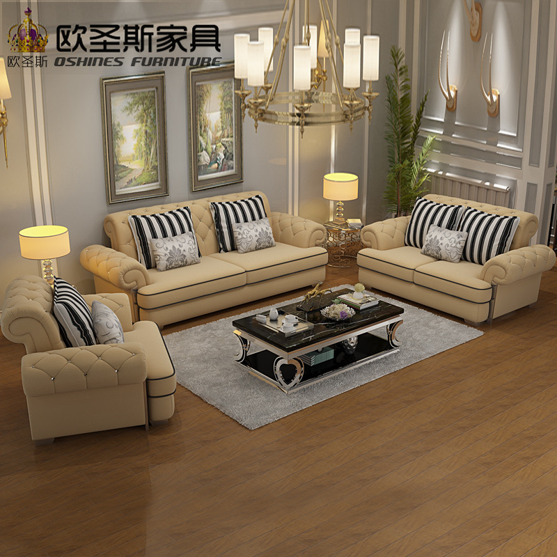 Luxury High quality europe new classic chesterfield crystal buttons stailess steel light yellow full velvet fabric sofa set 112 high quality new full set replacement