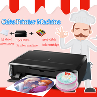 Lxhcoody Cake Printer For Canon IP7260 and for canon MG5660 Lollipop Chocolate Food Rice Paper Digital Printer