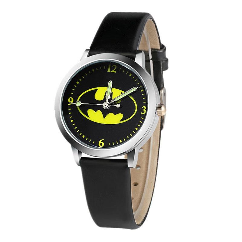 Kids Watch Quartz Analog Child Watches For Boys Cartoon Batman Children's Watch Girls Student Clock Gift Relogio Feminino